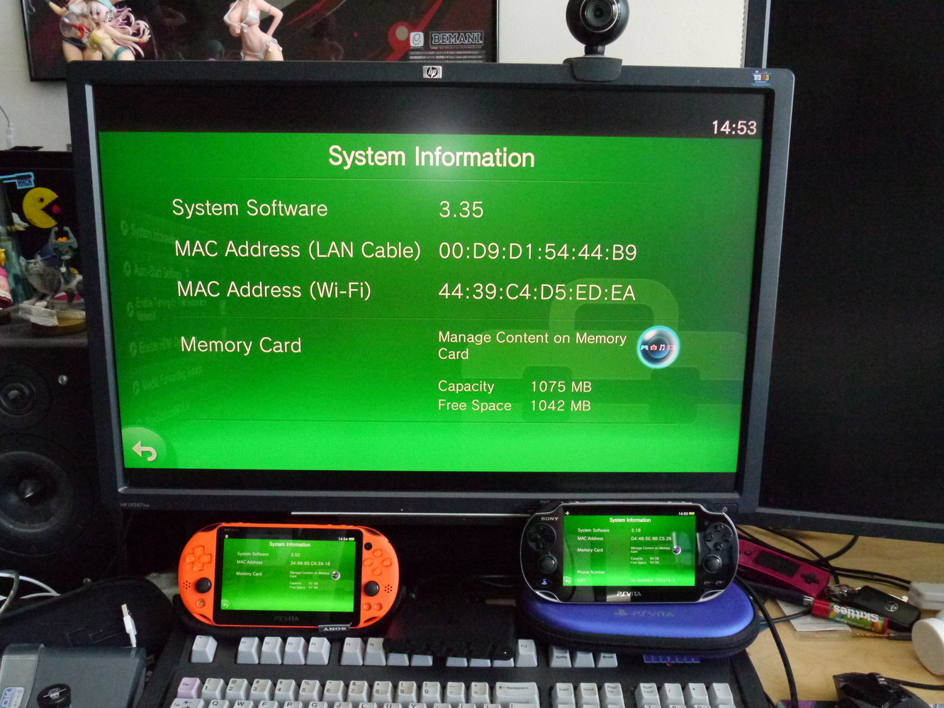 Vita 1000, 2000, and TV on stock firmwares 3.18, 3.52, and 3.35 respectively