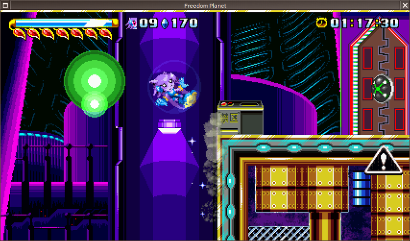 FreeBSD 10 playing GalaxyTrail's Freedom Planet via Wine.