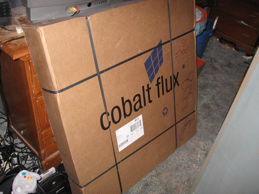 Cobalt Flux shipping box