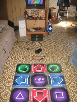 Full view of my Cobalt Flux, control box, Xbox, and television.