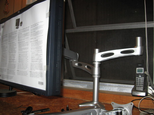 One of two displays mounted to the Ergotron mount.