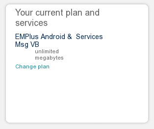 Screenshot of My T-Mobile plan details.