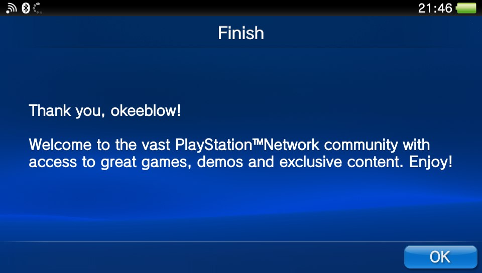 Signing in to PlayStation Network on a HENkaku-enabled Vita