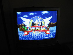 Sonic the Hedgehog title screen on S-Video.