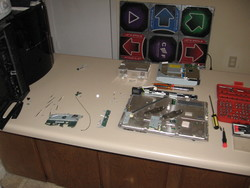 The CECHA fully disassembled.