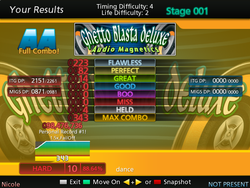 Results screen in StepMania 5 on FreeBSD.
