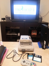 Super Famicom with Game Doctor SF-III running Final Fantasy IV.